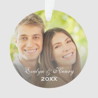 Personalized Photo Ornament   Couple's Monogram