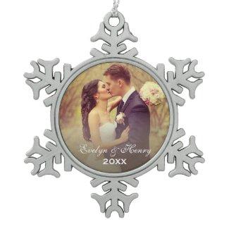 Personalized Photo Ornament | Wedding Monogram