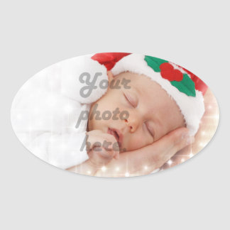 Personalized photo oval sticker