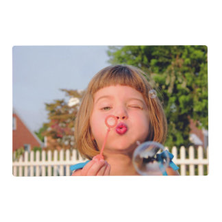 Personalized photo paper place mat. Make your own! Placemat