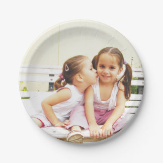 Personalized photo paper plate. Make your own! 7 Inch Paper Plate