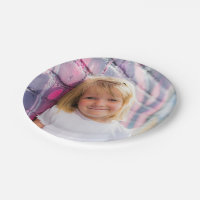 Personalized Photo Paper Plates Childrens Party