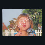 "Personalized photo placemat. Make your own! Placemat<br><div class=""desc"">Personalized photo paper placemat. Make your own! Easily create your own personalized photo paper placemat. Change image with your own photo. Customize it to add your text. DIY,  CYO</div>"