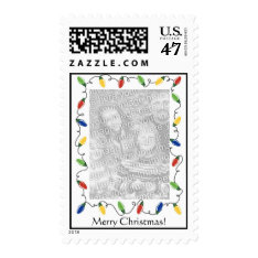 Personalized Photo Postage Stamp-Christmas Lights at Zazzle