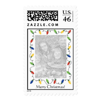 Personalized Photo Postage Stamp-Christmas Lights