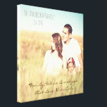 "Personalized photo &amp; quote canvas print<br><div class=""desc"">Custom Photo and personalized quote</div>"