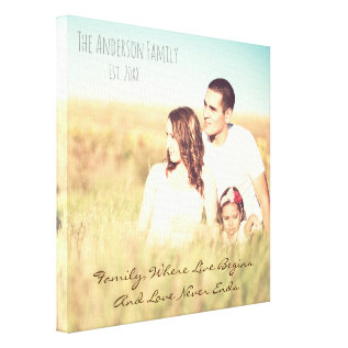 Personalized Photo & Quote Canvas Print at Zazzle