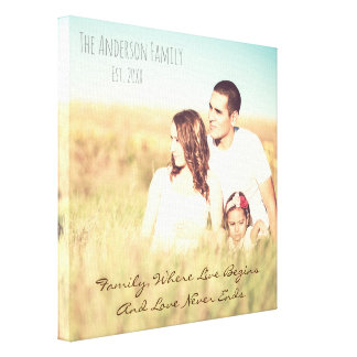 Personalized photo & quote canvas print