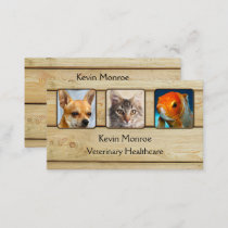 Personalized Photo Rustic Wood Business Card