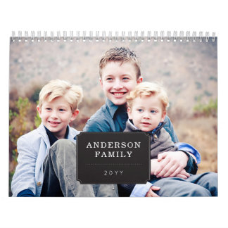 Personalized Photo Seasonal Calendar