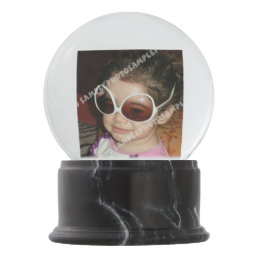 Personalized photo snow globe. Make your own! Snow Globe