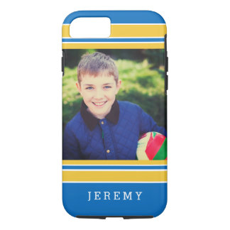 Personalized Photo Sports Fans Sporty Stripes iPhone 7 Case