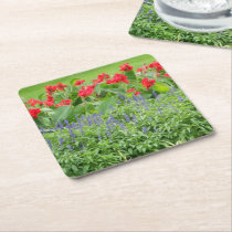 Personalized Photo Square Paper Coaster