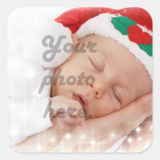 Personalized photo square sticker