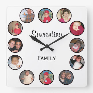 Personalized Photo Square Wall Clock