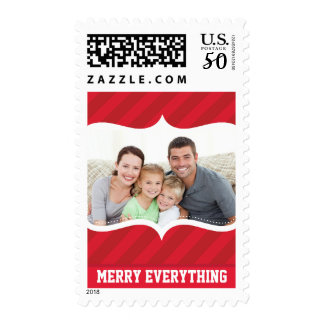 PERSONALIZED PHOTO STAMP cupid's bow bright stripe