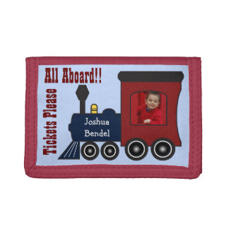 Personalized Photo Steam Train Choo Choo Wallet