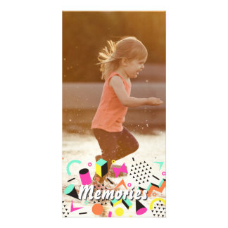Personalized photo sticker happy memories overlay card