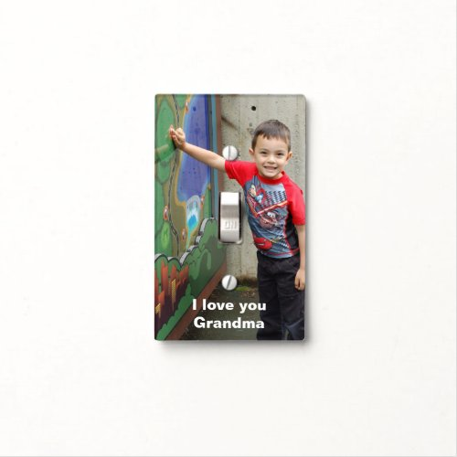 Personalized Photo Switchplate Light Switch Cover
