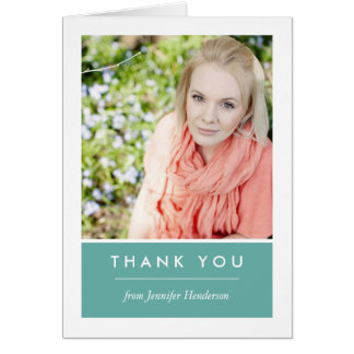 Personalized Photo Thank You Card