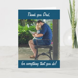 Personalized Photo Thank you Dad Father's Day Card