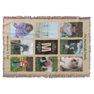 Personalized Photo Throw Blanket