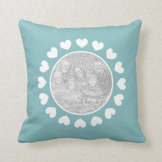 Personalized photo throw pillow for family picture