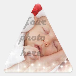 Personalized photo triangle sticker