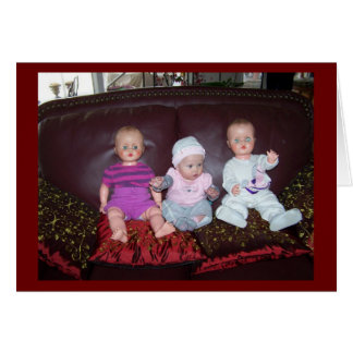 Personalized Photo Triplets Birth Announcement