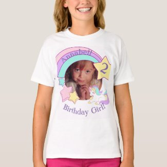 Personalized Photo Unicorn birthday T-Shirt