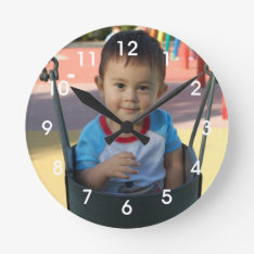 Personalized Photo Wall Clock at Zazzle