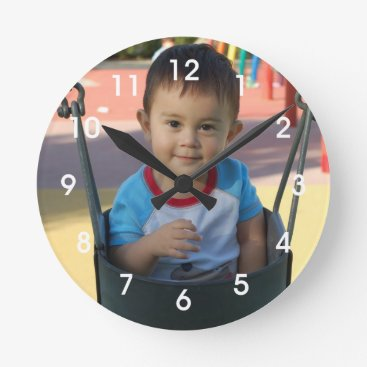 DaisyPrint Personalized Photo Wall Clock