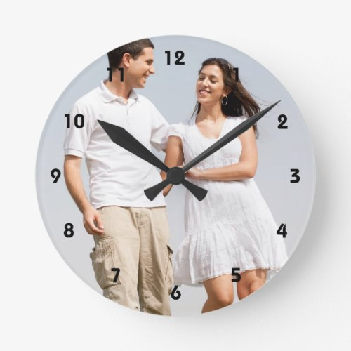 Personalized photo wall clock Make your own Round Clock