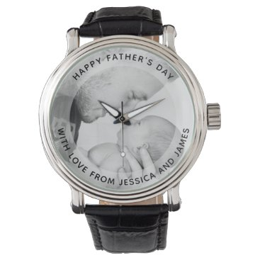 Personalized photo watch with custom message