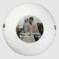 Personalized Photo Wedding Favor Golf Balls