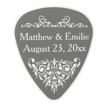 Personalized Photo Wedding Favor Polycarbonate Guitar Pick by bridalwedding at Zazzle