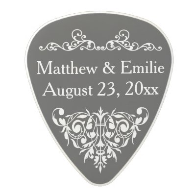 Personalized Photo Wedding Favor Polycarbonate Guitar Pick