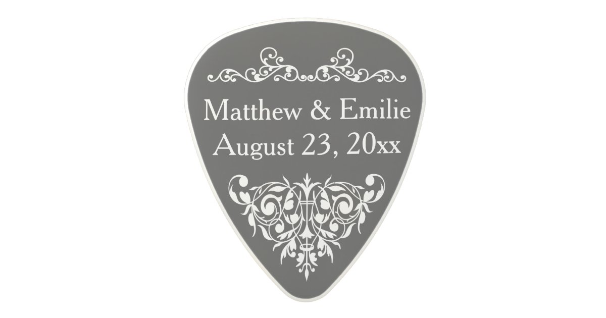 Personalized Photo Wedding Favor Polycarbonate Guitar Pick Zazzle