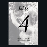 """Personalized Photo Wedding Table Number Card<br><div class=""""desc"""">Personalized Photo Wedding Table Number Card</div>"""