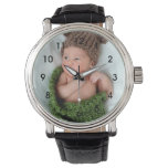 Personalized Photo Wrist Watch<br><div class='desc'>Upload a photo of your baby,  grandchild or family to create a personalized watch.  These watches also make great gifts for new mom and dads,  or grandparents.</div>