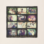 """Personalized photo x12 and text scarf<br><div class=""""desc"""">Custom pictures and message</div>"""