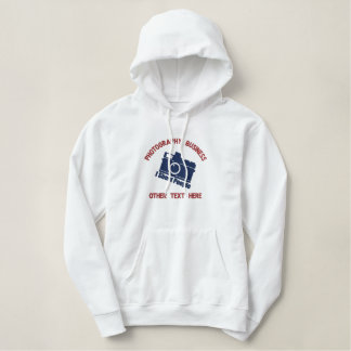 Personalized Photography Business Custom Embroidered Hoodie