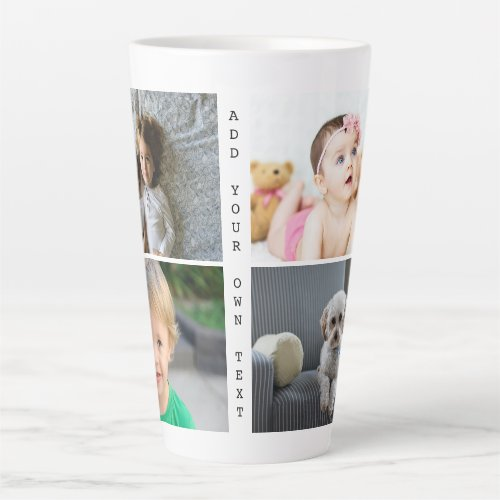 Personalized Photos and Text Latte Mug