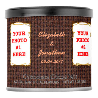 Personalized photos, names, date | Wedding Favor Hot Chocolate Drink Mix