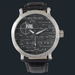 """Personalized Physics Gifts for Physicists Wrist Watch<br><div class=""""desc"""">Not sure what to get for the physics fan in your life? This is one great idea with a cool design of neat physics diagrams and formulas with a place for your personalization. Add name/initials/monograms or delete if desired.</div>"""
