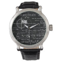 Personalized Physics Gifts for Physicists Wrist Watch