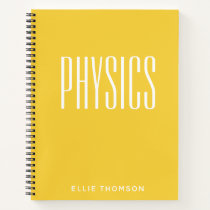 Personalized Physics Graph Paper Simple Yellow Notebook