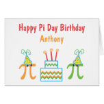 Personalized Pi Day Birthday Card