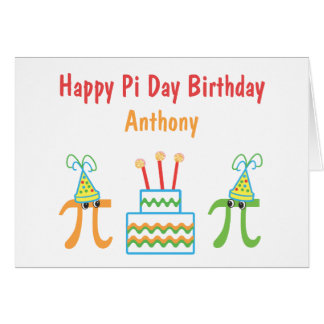 Personalized Pi Day Birthday Card