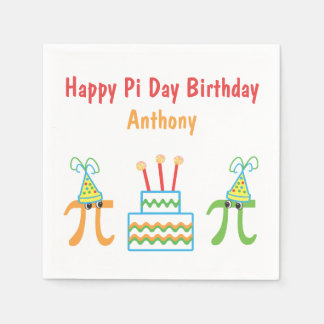 Personalized Pi Day Birthday Napkin